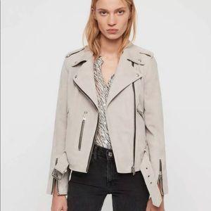🖤NWT ALLSAINTS Balfern Moto Jacket Oyster White
